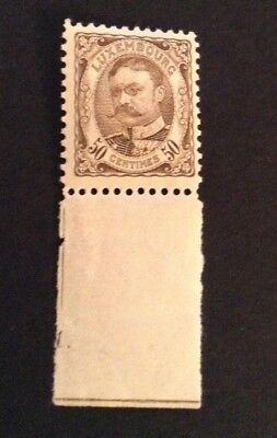 Jan992 LUXEMBOURG Prifix81 G.D. Guillaume 1906 50c Brown HIGH VALUE MNH stamp
