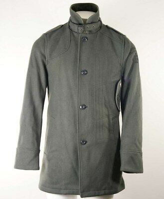 MEN'S G STAR DECOY Wool Garber Trench Coat size L 40 42