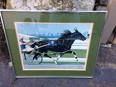 Race Horse Trotter Signed  Kasper 82 Painting Drawing