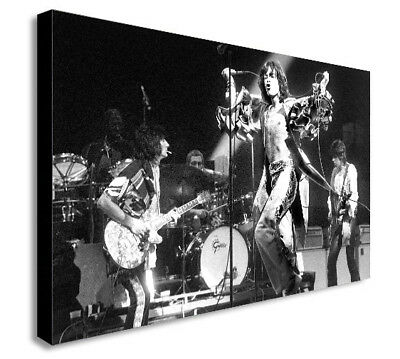 THE ROLLING STONES - LIVE - BLACK AND WHITE Canvas Wall Art Print-Various Sizes