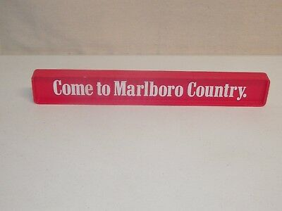 """Vintage 14"""" Come to Marlboro Country Where The Flavor Is Horizontal Sign 2 Sided"""