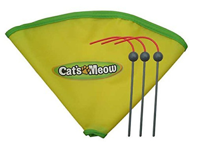 "Msun Replacement Spare Wand and 23"" Nylon Skirt for Cat's Meow Cat Toy"