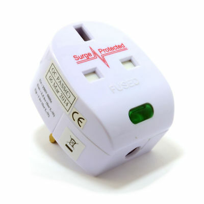 Surge Protected Fused 13A UK Rewireable Plug with Surged Pass Through [007500]