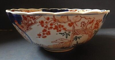 Large Japanese Imari Porcelain Bowl - Late 19Th Century