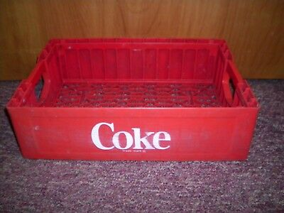 Vintage Plastic Coca Cola Coke Crate Carrier Tote Caddy Tray Red