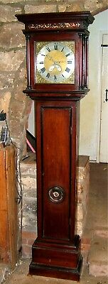 "Lovely Georgian Petite ""Birdcage"" Longcase Grandfather Clock C1750"