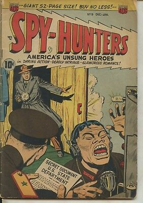 Spy-Hunters # 9 America's Unsung Heroes 1950 Very good condition