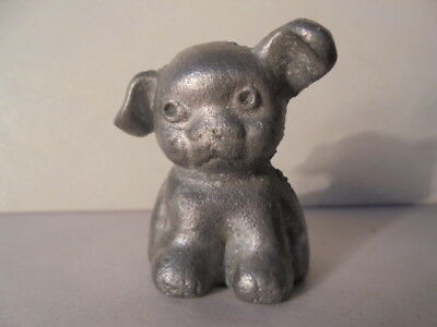 Vintage Solid Cast Iron Advertising HINES PUP Dog Paperweight Griswold / Hubley