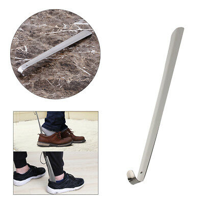 50CM Handled Metal Shoe Horn with Hanging Hole Lifter Long Shoespooner Showy US