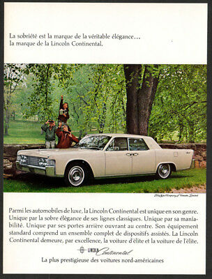 1965 LINCOLN Continental Vintage Original Print AD White car photo famiy english