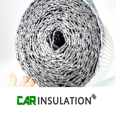 1m x 5m Double Bubble Foil 6mm Thermal Insulation Van Reflective Silver Camper