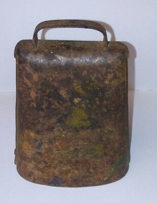 Vintage Hand Forged Metal Cow Bell With Nut Clapper Primative 4.5 Inches High
