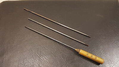 Vintage Brass and Steel 3 Piece Rifle Cleaning Rod 22 Caliber