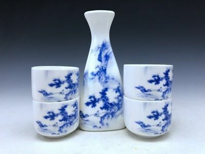 Chinese ancient blue and white porcelain pure hand painting scenery