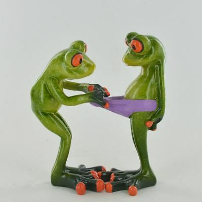 Comical Frogs - Cheeky Pants Small Resin Figurine Great For Home Gift