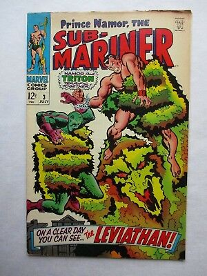 Marvel Comics The Sub-Mariner #3 Leviathan Triton Silver Age 1968