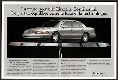 1995 LINCOLN Continental Vintage Original Print AD centerfold double sided fr ca