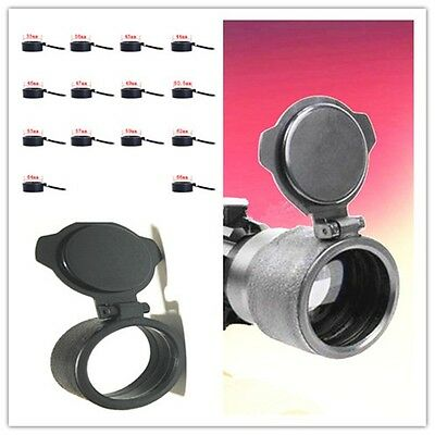 Rifle Scope Cover Flip Up Quick Spring Cap Open Objective Lens Eyes Protector