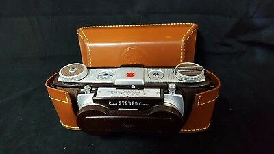 Vintage Kodak Stereo Camera with field case and box and color correcting lens