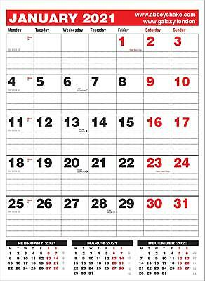 2018 one month to view black red monthly office calendar planner wall hanging