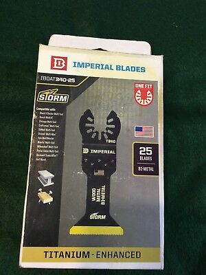 """Imperial Blades-IBOAT340-25 Made in the U.S.A.-ONE FIT 1-3/4"""" TiN STORM Bi-Metal"""