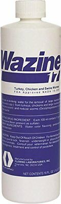 Fleming 17% Wazine Turkey, Chicken & Swine Dewormers, 8 oz
