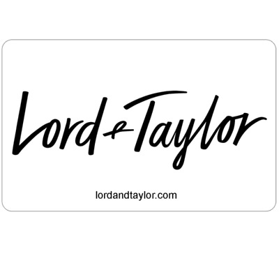 Buy a $50 Lord & Taylor Gift Card for only $42.50 - Fast Email Delivery
