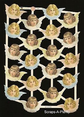 German Vintage Style Scrap Die Cut - Precious Christmas Easter Angels   EF7398