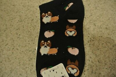 New!! Womens Ankle Socks Blue Pembroke Welsh Corgi Forever 21