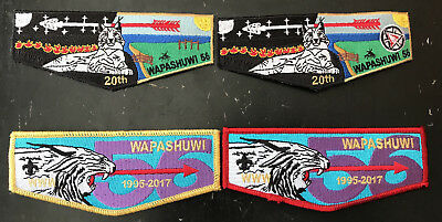Wapashuwi Lodge 56 GWRC Lot of 4 Anniversary and Final Flaps