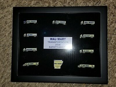 Walmart Transportation Set of 10 Lapel Pins in Display Frame