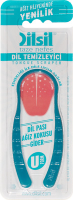 DILSIL TONGUE CLEANER SCRAPER  x1  (colours may vary)