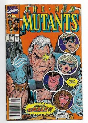 New Mutants #87 (1st Print - First Full Appearance of Cable) 1990 VG- 3.5 Cond.