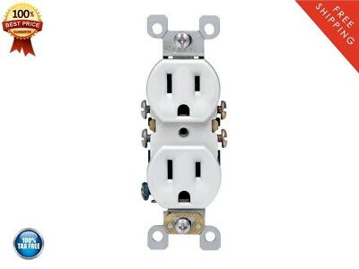 Leviton 10pack 15-Amp Duplex Electrical Wall Outlet White Replacement