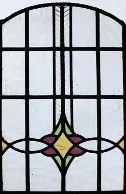 Arched Original Art Deco Stained Glass Window