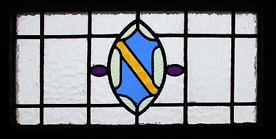 Edwardian English Stained Glass Window Original Frame
