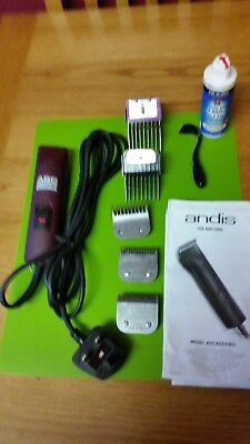 Andis professional dog clippers and some detachable blades