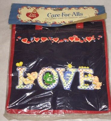 Care Bears Vintage Tote Bag Purse LOVE Care For Alls New NOS Made in Hong Kong