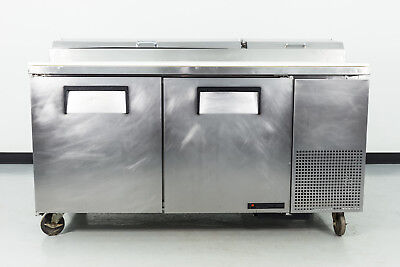 """Used True TPP-67 67"""" 2 Door Refrigerated Pizza Prep Table"""