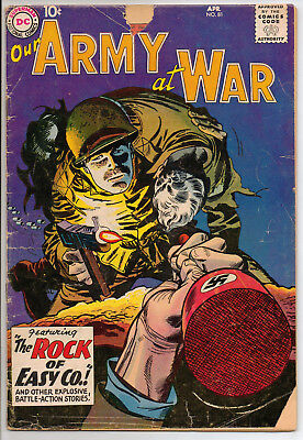 Our Army at War #81 (Apr 1959, DC) GD-; SGT. ROCK PROTOTYPE