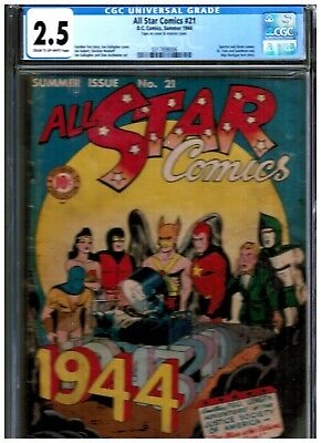 All Star Comics #21 Cgc 2.5 Blue Spectre And Atom Cameo