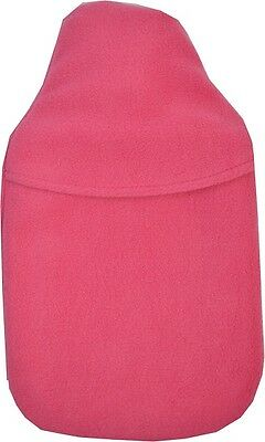 Cosy Fleece 2 Litre Cosy Warm & Soft Plain Cerise Pink Hot Water Bottle & Cover