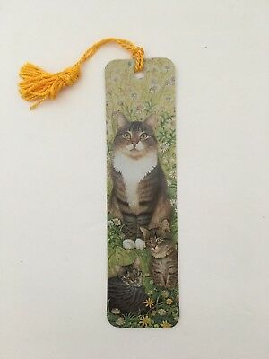 Vintage Bookmark Fine Art Ivory Cat Lesley Anne Ivory 1991