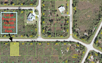 Port Charlotte,  Florida, Homesite  Lot, Excellent Property Investment
