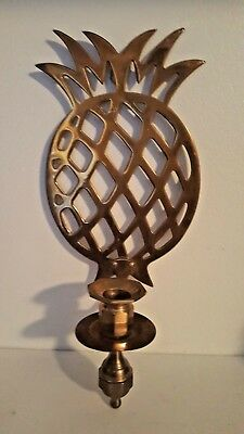 Brass Pineapple Shape Wall Mount Sconces Candle Stick Holder