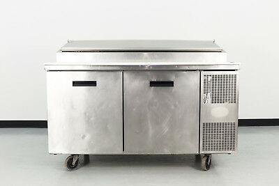 """Used Randell 8260NM 60"""" 2 Door Refrigerated Pizza Prep Table"""