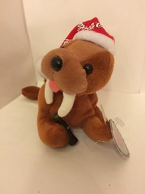 "Collectible Coca Cola Christmas Walrus 8"" Bean Plush Nwt"