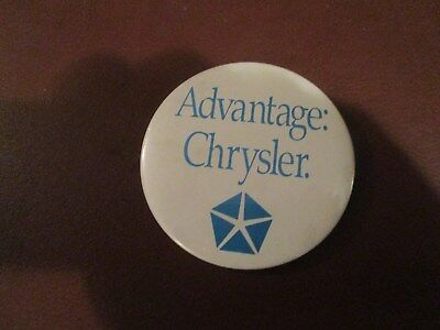 "Collectible Chrysler Pin Button ""advantage Chrysler"""