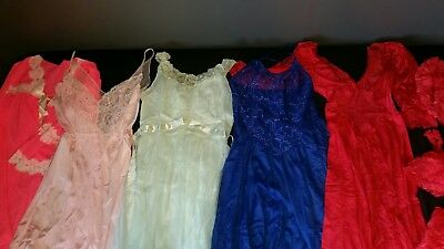 Vintage Slip Nightgown lot burlesque Vanity Fair Lace lingerie nightie