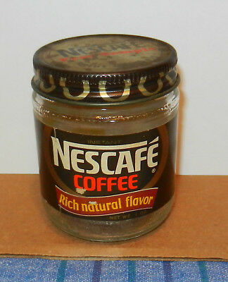 Vintage 1960s-70s Nescafe Coffee Free Sample Not for Resale Glass Jar